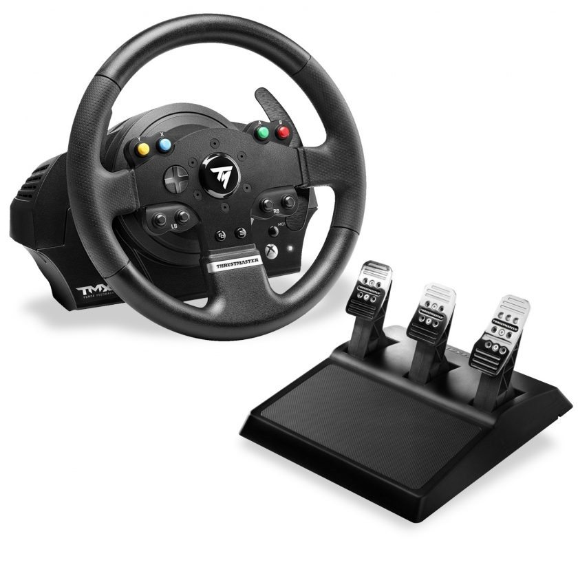 הגה מירוצים עם דוושות Thrustmaster TMX PRO Force Feedback T3PA