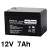 סוללה נטענת 12V עוצמה 7A תוצרת Power Kingdom