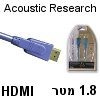 כבל HDMI מקצועי Acoustic Research אורך 1.8 מטר דגם AP085