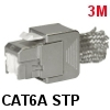 שקע קיסטון 3M Volition RJ45 K6A STP Jack Category 6A