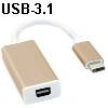 מתאם USB-3.1 Type C לחיבור mini DisplayPort  למסך
