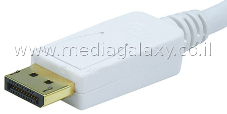 פלאג Displayport זכר מצופה זהב 24K