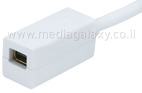 חיבור mini Displayport נקבה מצופה זהב 24K