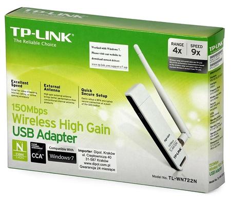 כולם חדשים מדיה גלקסי | כרטיס רשת אלחוטי תקן N חיבור USB עם אנטנת הגברה TP EA-47