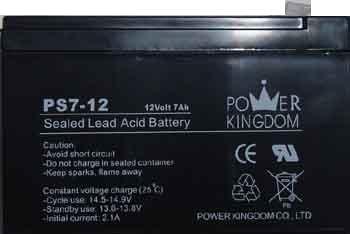 מדהים מדיה גלקסי | סוללה נטענת 12V עוצמה 7A תוצרת Power Kingdom / סוללות IE-71