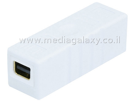 מתאם mini Displayport נקבה-נקבה